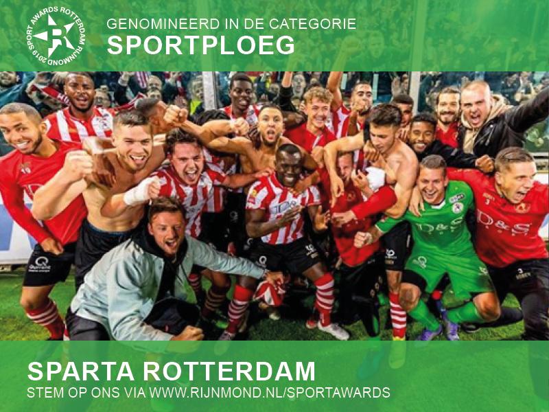 Nominaties voor Sparta en Henk Fraser bij Sport Awards